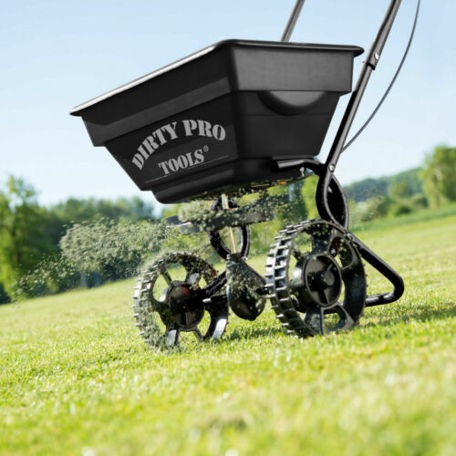 Professional Rotary Garden Spreader Large Lawn Fertiliser Grit Grass Seed <br/> note due to high demand delivery will be 17th May