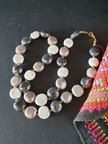 Old Kenya Kazuri Stone Necklace …beautiful accent and collection piece