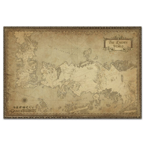 Game of Thrones Poster - Westeros Map - Exclusive Design