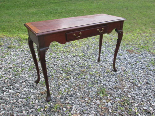 HICKORY CHAIR MAHOGANY CONSOLE TABLE QUEEN ANNE JAMES RIVER PLANTATION 18TH C