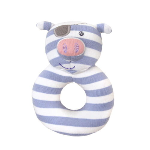 NEW Apple Park Pirate Pig Organic Rattle Children Baby