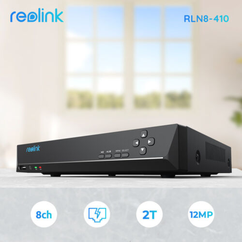 Reolink PoE NVR 8-Channal 4K 8MP Security Camera System Video Recorder 2TB HDD