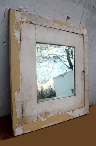 "2 availble 34""x34"" Antique Vintage Wood Wooden Cabinet Front Door Beveled Mirror"