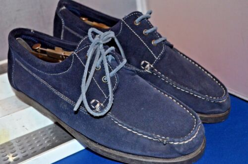 BRUNO MAGLI -ITALY BLUE SUEDE MOCASSIN/BOAT LACE UP SHOES UK 9 EU 43