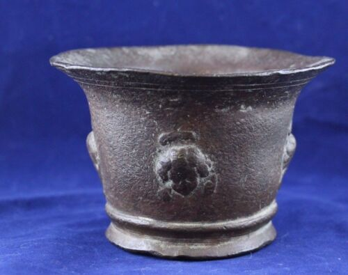 Antique Early Spanish Colonial Bronze Mortar