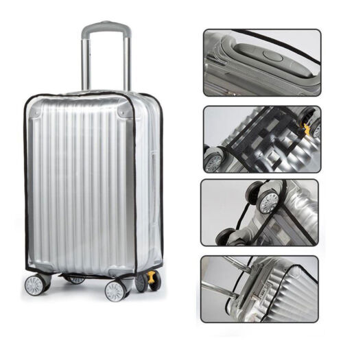 """Anti Scratches Transparent Luggage Protector Suitcase Cover 20"""" 26 28 inch Clear"""