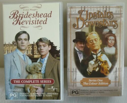 VHS BRAND NEW - UPSTAIRS DOWNSTAIRS ( SERIES 1 ) & BRIDESHEAD REVISITED GRANADA