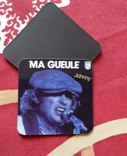 """Magnets Johnny Hallyday collection """" Ma Gueule """""""