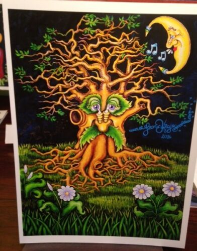 """""""New Orleans Tree with Singing Moon"""" Jamie Hayes GICLEE SIGNED & NUMBERED"""