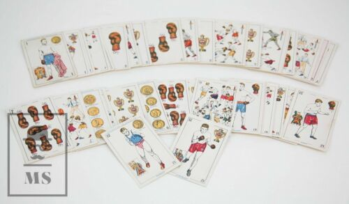 Original 1920´s Complete 48 Collectable Playing Card Set - Boxing / Boxers