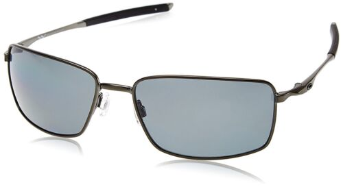 e525184eb6 New Authentic OAKLEY SQUARE WIRE OO4075-04 Carbon Grey Polarized Sunglasses