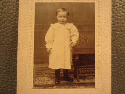 Victorian Antique Cabinet Card Photo of a Child Young Girl