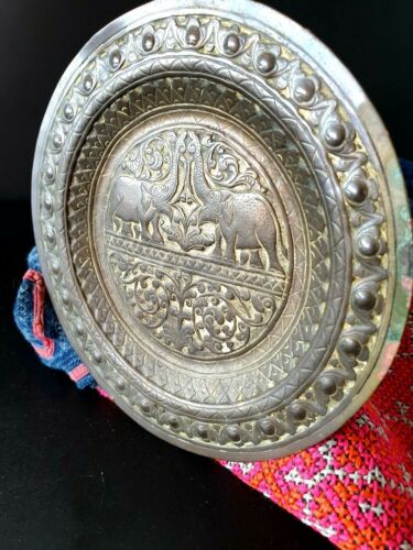Old Tibetan / North India Brass Plate with Hanger …beautiful collection piece