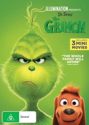 The Grinch 2019 Release DVD Region 4 NEW