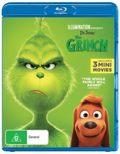 The Grinch 2019 Release with Digital Download Blu-ray Region B NEW