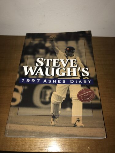 SIGNED - Steve Waugh - Ashes Diary Book 1997 - Australian Cricket