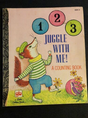 Rare Hardcover JUGGLE WITH ME Little Golden Book 1973 (G/C)
