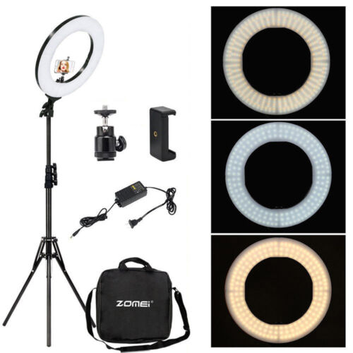 18'' LED Ring Light Kit& Stand Dimmable for Camera Portrait Live Broadcast Video