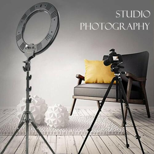 ZOMEI 18-inch Bi-Color Stepless Dimmable LED Ring Light Kit with Stand 58W 5500K