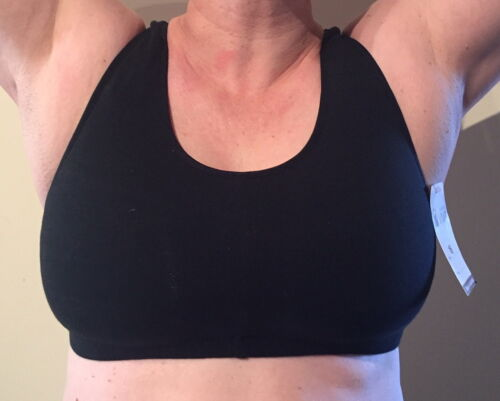VIVA SPORTS Wirefree High-Impact, Comfy Sports Bra SIZE 16 NEW Black Mesh Back