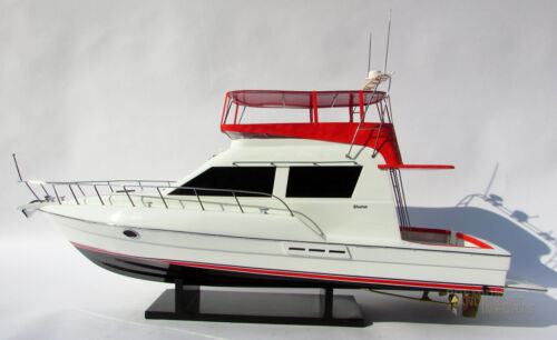 Hand-crafted Silverton 42 Convertible Model Yacht