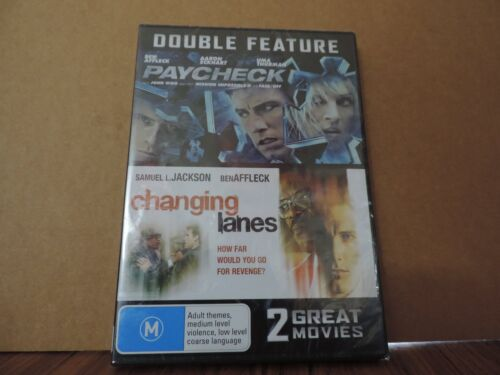 PAYCHECK & CHANGING LANES - BEN AFFLECK DOUBLE FEATURE - DVD  new and sealed