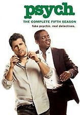 PSYCH: THE COMPLETE FIFTH SEASON 5 - BRAND NEW & SEALED DVD (4-DISC)