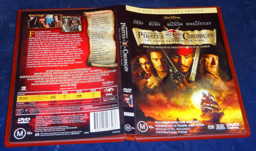 PIRATES OF THE CARIBBEAN THE CURSE OF THE BLACK PEARL (2 DISC) (DVD, M)