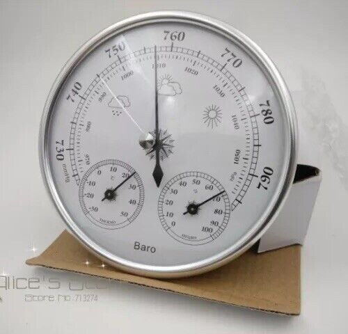 3 in 1  barometer Thermometer and Hydrometer silver GREAT PRICE! $30