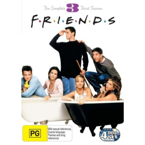 FRIENDS: THE COMPLETE THIRD SEASON / 3 - BRAND NEW & SEALED R4 DVD (4-DISC)