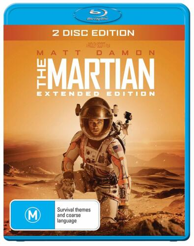 MARTIAN EXTENDED CUT, THE (2 DISC) Blu-Ray Australian New and Sealed