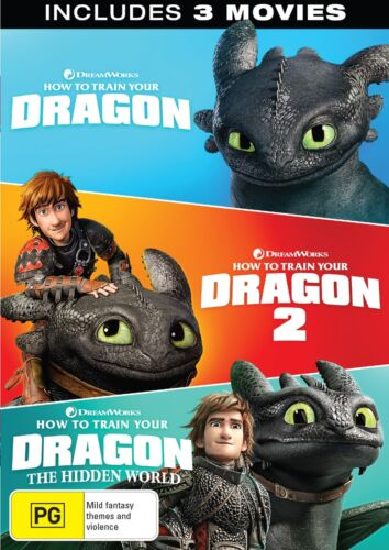 How to Train Your Dragon 1-3 Box Set DVD Region 4 NEW