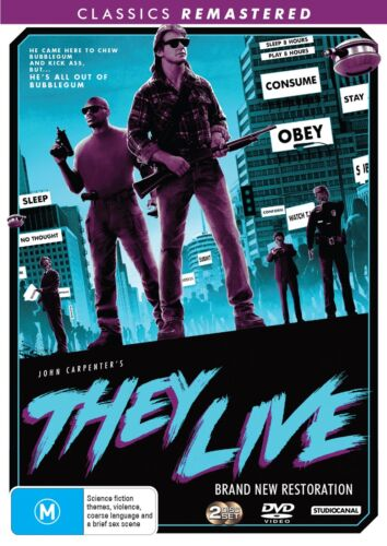 They Live DVD Region 4 NEW