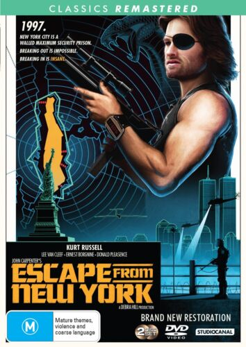 Escape from New York DVD Region 4 NEW