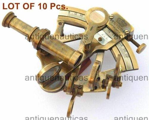 """4"""" Solid Brass Sextant Nautical Working Instrument Astrolabe Ships Lot Of 10 PCs"""