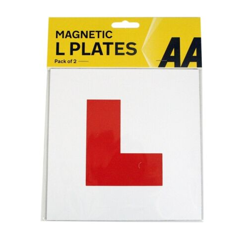 2Pce Magnetic /'L/' Plates Learner Learning Driver Safety Driving Test