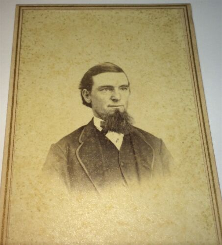 Antique Victorian American Fashion Gent, Beard! Utica, New York CDV Photo! US!
