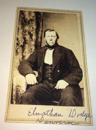 Rare Antique Victorian American Occupational ID'd Miller, Mr. Dodge CDV Photo!