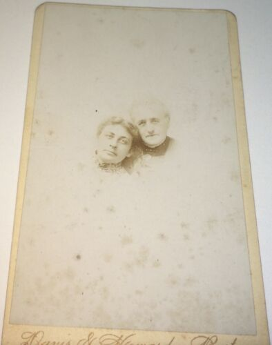 Rare Antique Victorian American Fashion Mother & Daughter Christmas CDV Photo!