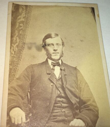 Rare Antique Victorian American Spaulding Family Dapper Man Boston, MA CDV Photo