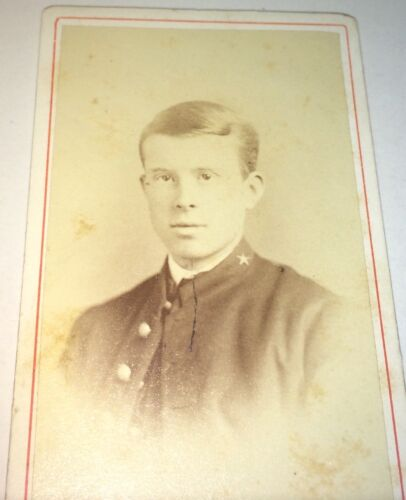 Rare Antique Victorian American Handsome Soldier! NY Military Academy CDV Photo!
