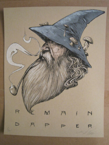 """Dapper Wizard Zach Landrum limited edition 11""""x14"""" signed/numbered screen print"""