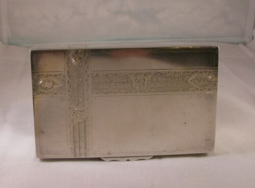 ANTIQUE LATVIAN SILVER TROMPE L'OIEL CIGAR BOX