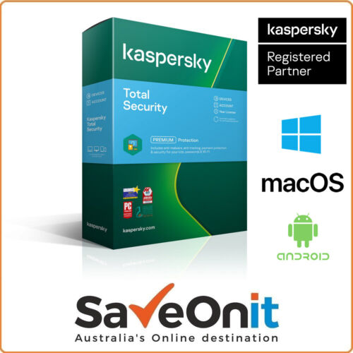 Kaspersky Official Total Security 2021 3 Device PC 1 Year Email license