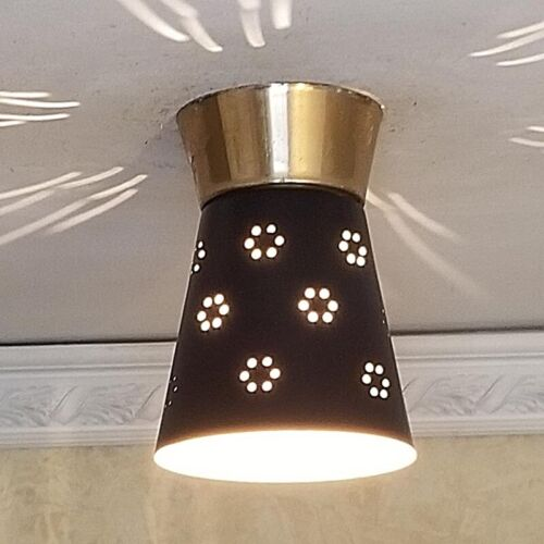 138 50s 60s Vintage Ceiling Light Lamp Fixture atomic midcentury eames 1 of 4