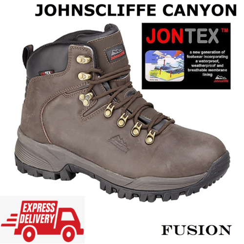 WALKING BOOTS, WATERPROOF & BREATHABLE, HIKING, HI GRIP SOLE JOHNSCLIFFE CANYON