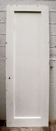 "28""x80.5""x1.75 Antique Vintage Solid Wood Wooden Interior Door Single Flat Panel"