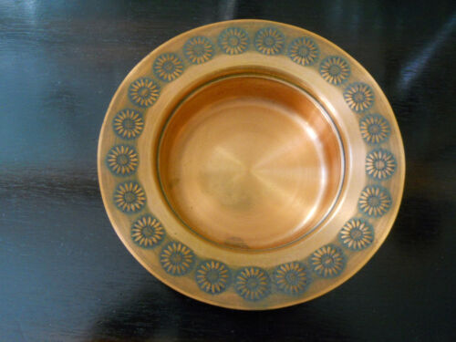 Vintage Peerage Made in England Copper Dish with Floral Border