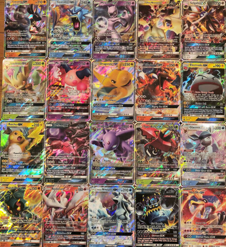 100 Pokemon Cards Lot - GUARANTEED 1x Ultra Rare GX or V Card +15 Rare/Holos! 🦘