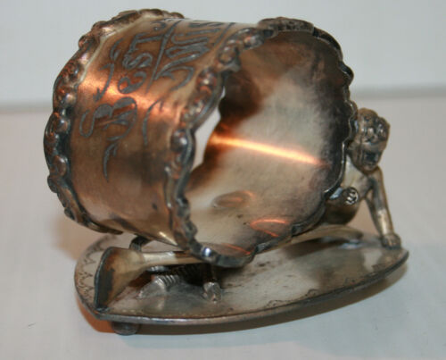 Victorian Silver Plated Napkin Ring Best Wishes Engraved Wilcox Silver Plate Co
